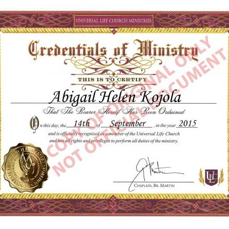 ordination-certificate-QWJpZ2FpbCBIZWxlbiBLb2pvbGFeMDkvMTQvMjAxNV5sYXJnZV5mcmVlXg,,
